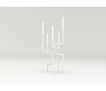 Candlestick design Frederik Roijé Walk of Flame white