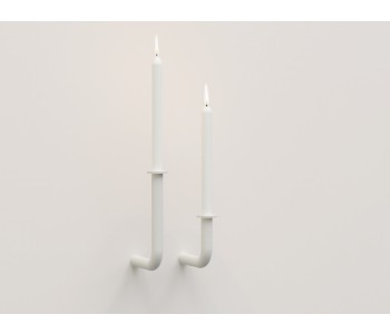 Wall of Flame Wall Sconce - White - Small