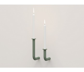 Candlestick metal design Frederik Roijé Wall of Flame