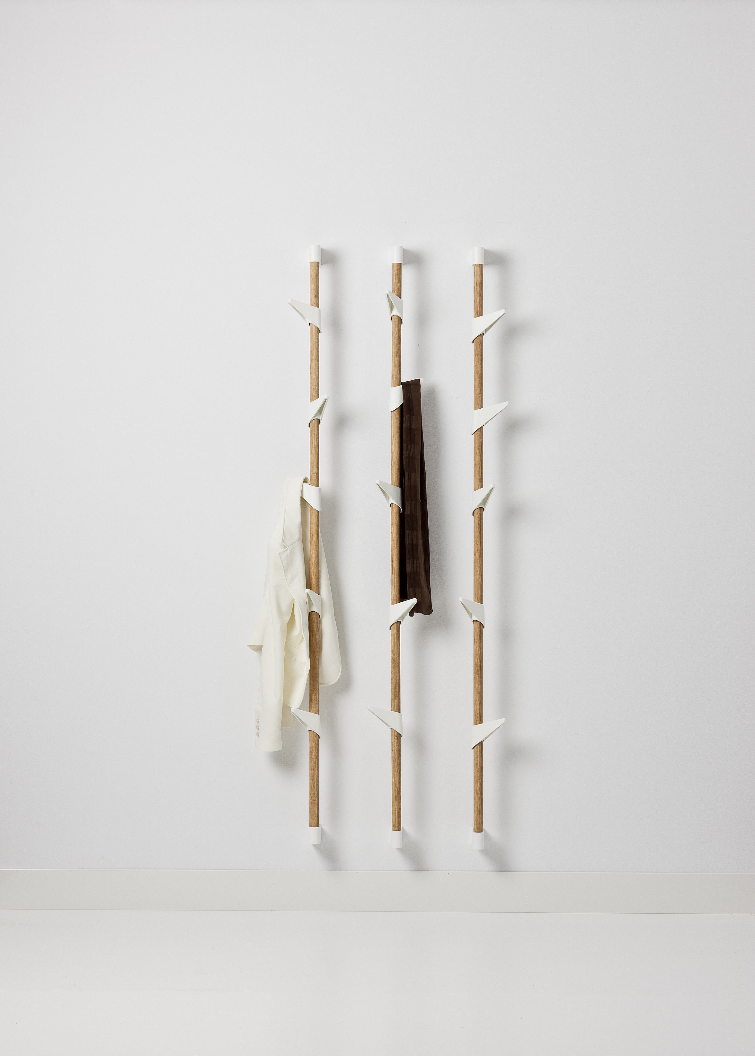 order bamboo wall coat rack  cascando from shophollandcom -  designer wall coat rack bamboo wall