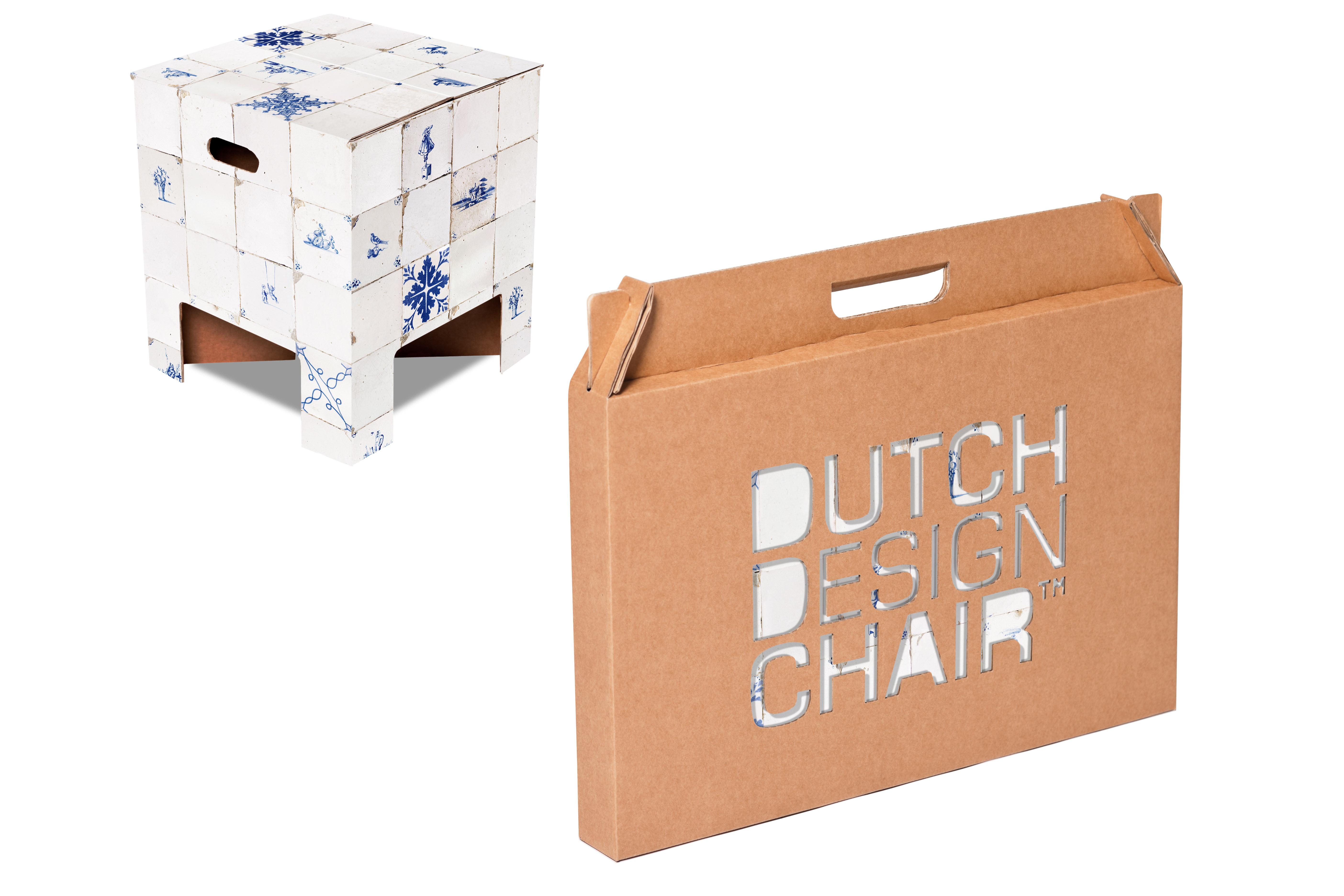 Dutch Design Chair concrete Dutch Design Chair With Tile Motif And Packaging Of Dutch Design Brand
