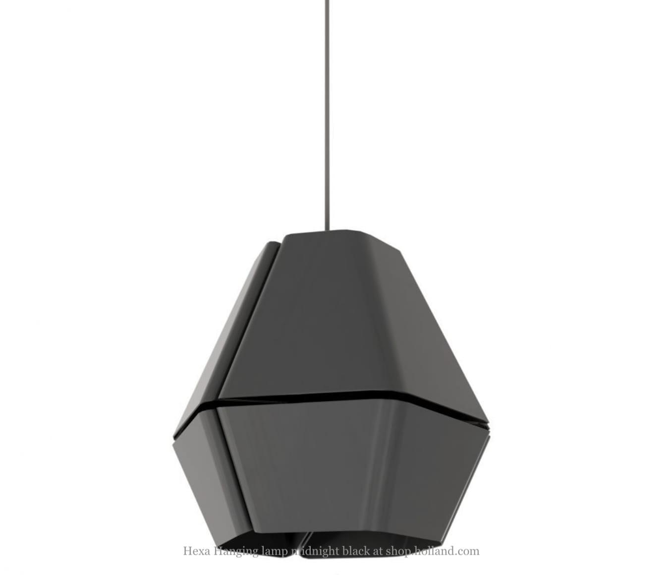 Hexa Pendant Lighting Midnight Black By