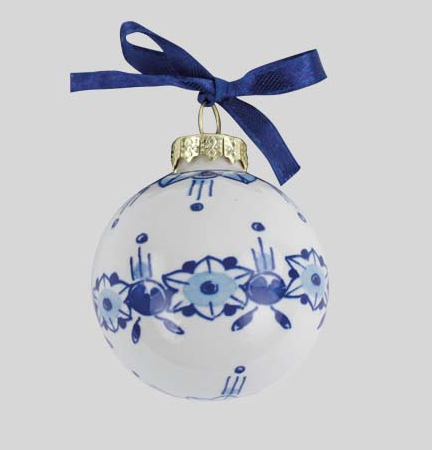 Christmas ball mini 5 cm in Delft blue, make your own typical Dutch  Christmas tree - Discover Delft Blue Christmas Tree Decorations Here