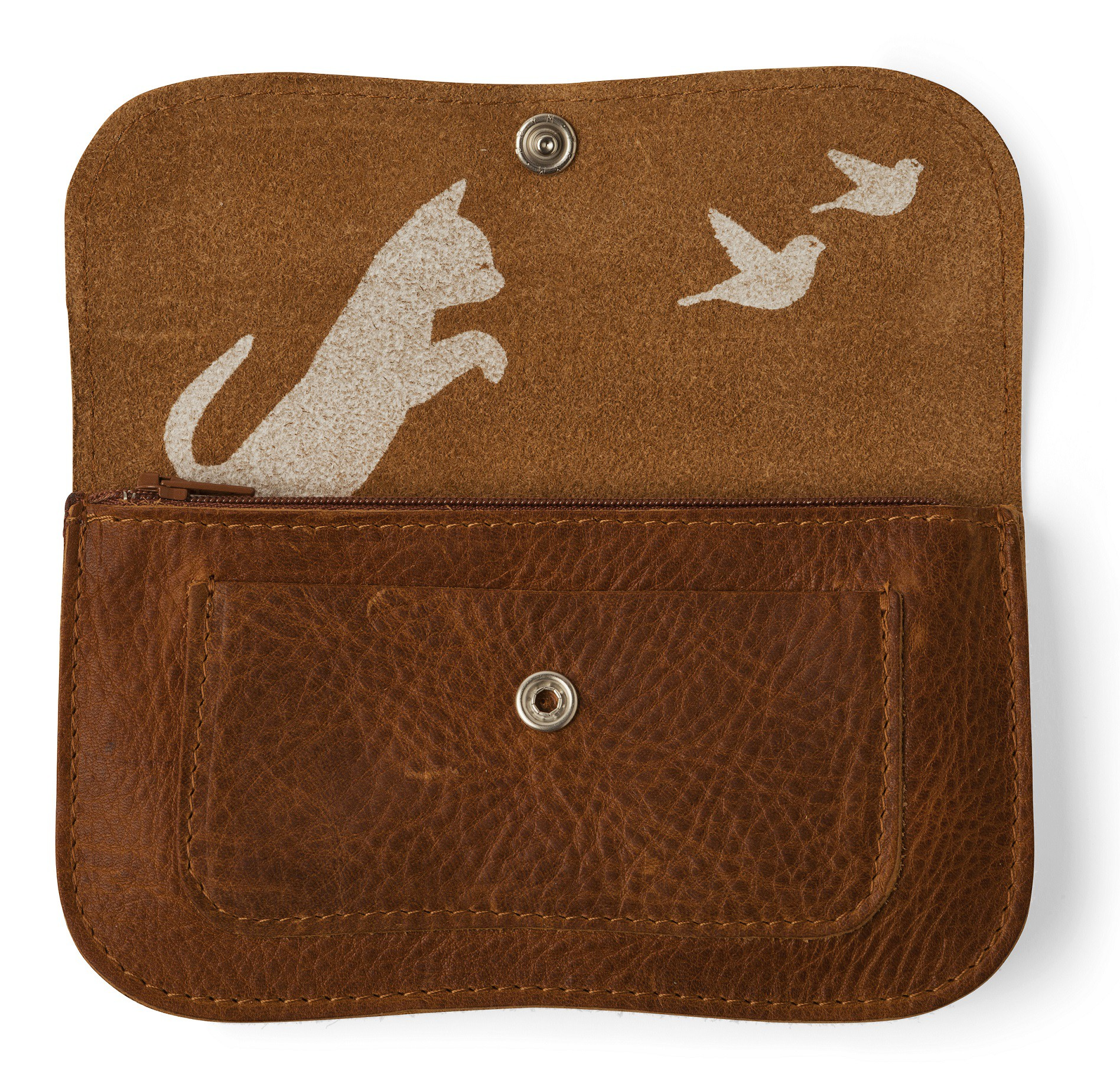 16bffd15222 ... Cat Chase Wallet from Keecie in Fresh Green | fresh green ...