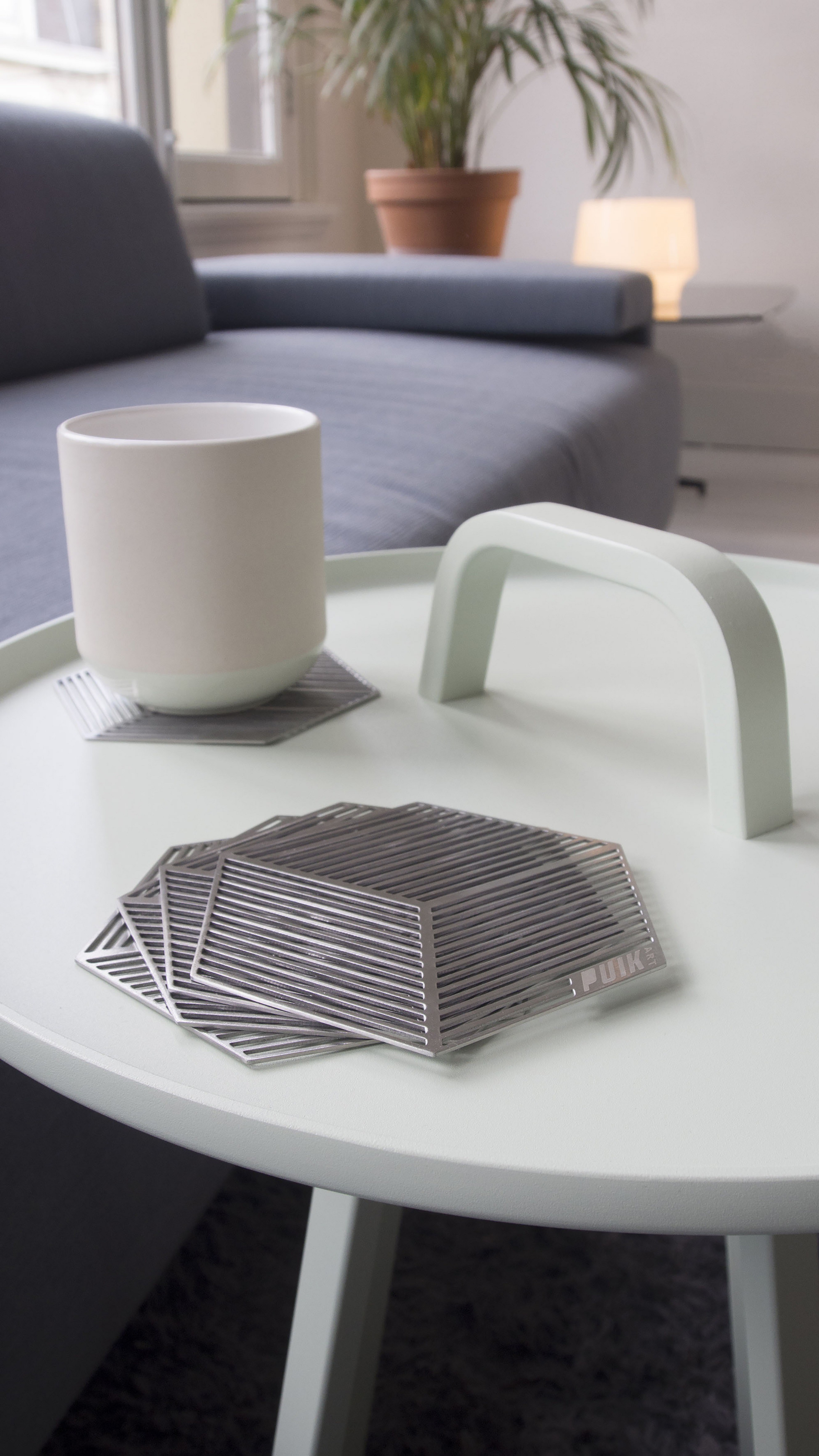 purchase seco stainless steel coasters at shophollandcom -  seco designer coasters ideal gift for christmas