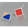 Silver Earrings Mondrian by NobelJo