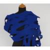 LH58 felt shawl cobalt blue
