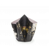 Bow Vase Chrysanthemums L - black with gold