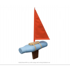 Goods Bottle Boat toy boat - orange
