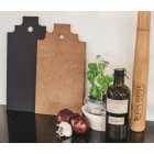 Finest Cutting Board Amsterdam black and light brown