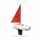 Goods Bottle Boat toy boat red