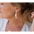 Clic ear studs Novalie 14k gold plated or silver