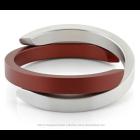 Clic A1R Bracelet matt silver - red