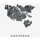IXXI Amsterdam City Map Wall Decoration 120x160 cm