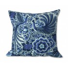 Delft Blue Cushion cover Peacock - for 45x45 cm