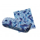 Delft Blue Glasses Case by Royal Delft - including matching glasses cloth
