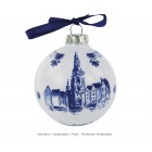 Delft Blue Christmas Tree Ball Amsterdam by Royal Delft