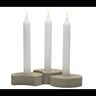 Hap candle holder Concrete - Set of 3