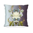 Hendrik' Design Cushion Cover White Fair Flowers 45x45 cm