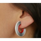 Tracks earrings in 3 colors from Turina Jewellery