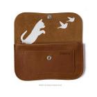 Wallet Cat Chase Medium from Keecie - Cognac