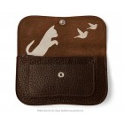 Wallet Cat Chase Medium from Keecie - Grey Brown