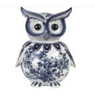 Pols Potten Piggy Bank Owl Delft blue porcelain