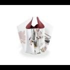 Bow vase Early Birds 'Flamingo' by Hendrik'