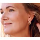 Clic ear studs Ilja 14k gold plated or silver