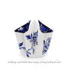 Hendrik' Folding vase with bow Delft blue Large