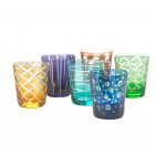 Pols Potten Colored Water Glass or Tumbler - set of 6 different glasses