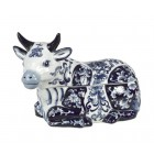 Cookie Jar Cow – Blue white porcelain by Pols Potten