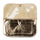 Wallet Cat Chase Medium from Keecie - Gold