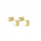 Jordaan Ear Studs gold plated - Riverstones