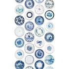 Studio Ditte Wallpaper with Blue porcelain tableware