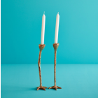 Long Legs candlesticks – Set of 2 in Gold by Jasmin Djerzic