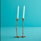 Long Legs candlesticks – Set of 2 in Gold by Jasmin Djerzic