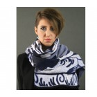 Elegant Scarf Delft Blue by Knits for your inspiration
