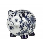 Pols Potten Piggy Bank Pig Delft blue porcelain