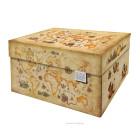 Dutch Design Storage Box Ancient World Map - 40 x 31 x 21 cm
