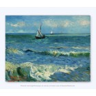 Vincent Van Gogh Seascape on Canvas 29x37cm