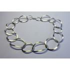 Silver Mecklace Ovals by Yolanda Döpp designer jewelry