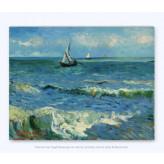 Vincent Van Gogh Seascape on Canvas 29x37cm