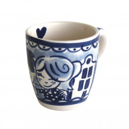 Mini Mug Delft Blond in blue white by Blond Amsterdam