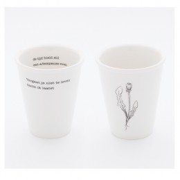 plint poetry, beaker with poem, Martin Bril, Kees Hermis
