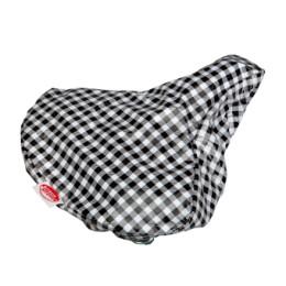 Kitsch Kitchen Saddle Cover - Checkered black-white