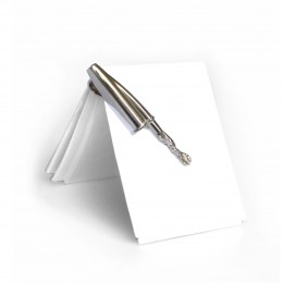 The Bic pen lid is the model for this 925 sterling silver clip.