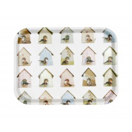 Serving tray birds and houses by studio Ditte