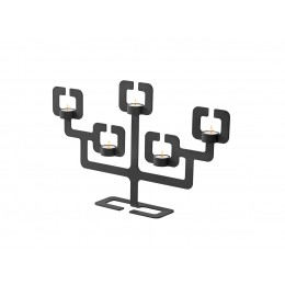 Candleholder Functionals Roderick Vos Bonsai 5 black steel
