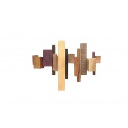 Cluster coat rack by Pepe Heykoop in leftover hardwood